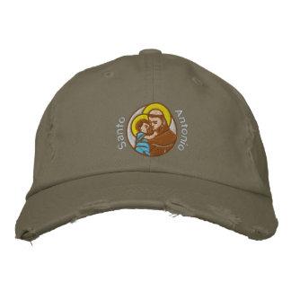 St Anthony - Sant'Antonio - Santo Antonio Embroidered Cap