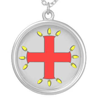St Anthony's Cross Silver Plated Necklace