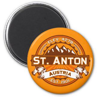 St. Anton Logo 6 Cm Round Magnet
