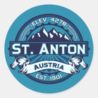 St. Anton Logo Classic Round Sticker