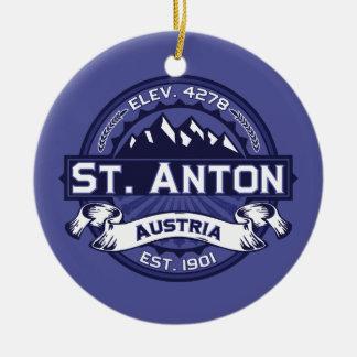 St. Anton Logo Midnight Ceramic Ornament