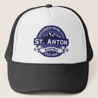 St. Anton Logo Midnight Trucker Hat