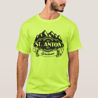 St. Anton Mountain Emblem Black T-Shirt
