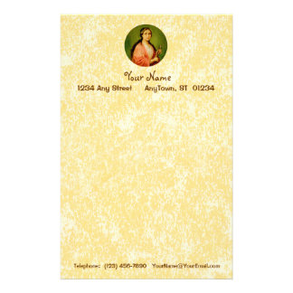 "St. Apollonia (BLA 001) 5.5""x8.5"" Vert #1a Stationery"