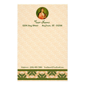 "St. Apollonia (BLA 001) 5.5""x8.5"" Vert #2a Stationery"