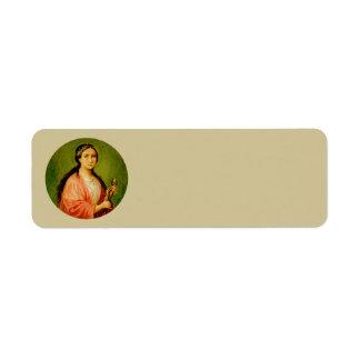 St. Apollonia (BLA 001) Narrow Return Address Label