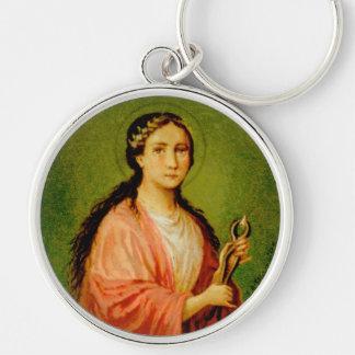 St. Apollonia (BLA 001) Premium Round Metal Key Ring