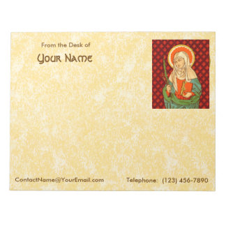 "St. Apollonia  (VVP 001) 11""x8.5"" Horizontal Notepad"