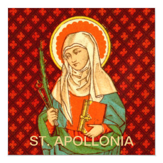 """St. Apollonia (VVP 001) 5.25""""x5.25"""" Square Magnetic Card"""