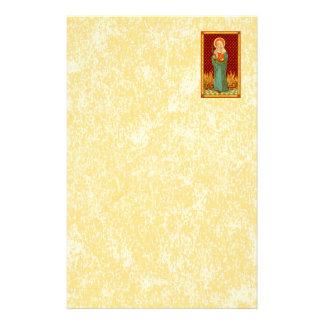 "St. Apollonia (VVP 001) 5.5""x8.5"" Vert #1b Stationery"