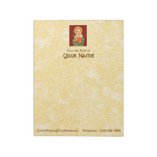"St. Apollonia (VVP 001) 8.5""x11"" Vertical Notepad"