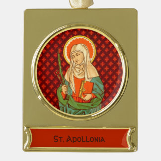 St. Apollonia (VVP 001) Gold Plated Banner Ornament