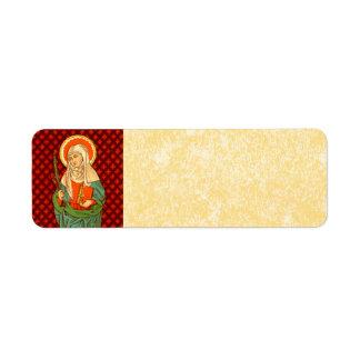 St. Apollonia (VVP 001) Parchment Return Address Label