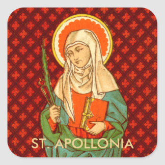 St. Apollonia (VVP 001) Square Sticker