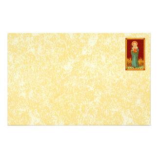 "St. Apollonia (VVP 01) 8.5""x5.5"" Horiz #1b Stationery"