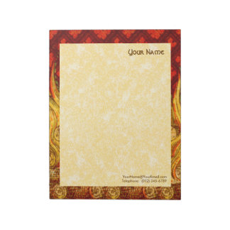 "St. Apollonia's Flames (VVP 001a) 11""x8.5"" Vert Notepad"