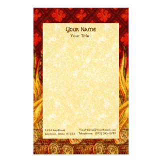 "St. Apollonia's Flames (VVP 01) 5.5""x8.5"" Vert #2a Stationery"