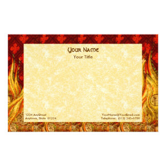 "St. Apollonia's Flames (VVP 01) 8.5""x5.5"" Hor #2a Stationery"