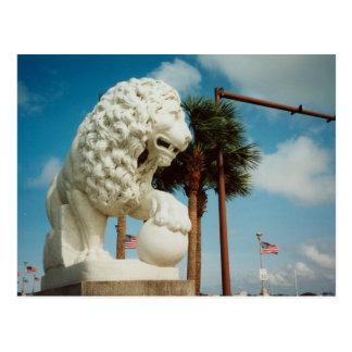 St. Augstine Florida Bridge of Lions Postcard Art