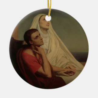 St. Augustine and his mother St. Monica, 1855 Ceramic Ornament