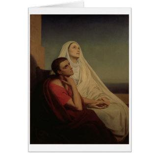 St. Augustine and his mother St. Monica, 1855 Greeting Card