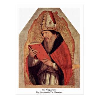 St. Augustine By Antonello Da Messina Postcard