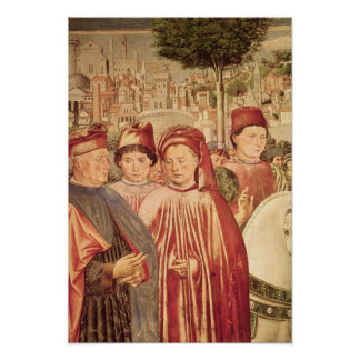 St. Augustine Departing for Milan Poster