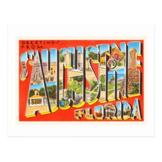 St Augustine Florida FL Vintage Travel Souvenir Postcard