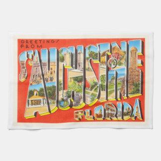 St Augustine Florida FL Vintage Travel Souvenir Towels