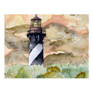 St Augustine Florida lighthouse painting Postcards