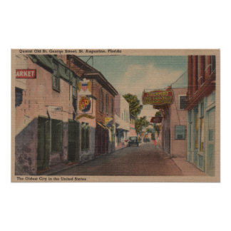 St. Augustine, Florida - View of St. George St. Poster