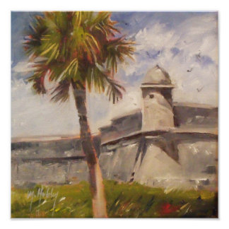 St. Augustine Fort - Castillo de san Marcos Poster