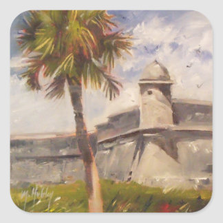 St. Augustine Fort - Castillo de san Marcos Square Sticker