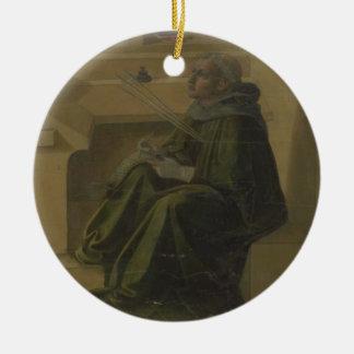 St. Augustine in his Study (predella of the Barbad Ceramic Ornament
