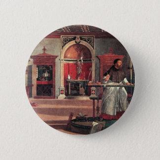 St. Augustine in His Study - Vittore Carpaccio 6 Cm Round Badge