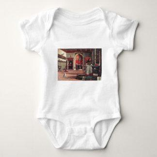 St. Augustine in His Study - Vittore Carpaccio Baby Bodysuit