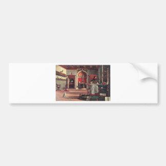 St. Augustine in His Study - Vittore Carpaccio Bumper Sticker
