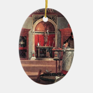 St. Augustine in His Study - Vittore Carpaccio Ceramic Ornament