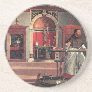 St. Augustine in His Study - Vittore Carpaccio Coaster