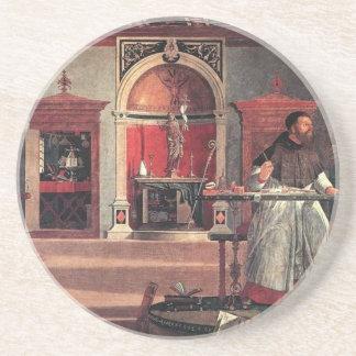 St. Augustine in His Study - Vittore Carpaccio Drink Coaster