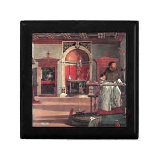 St. Augustine in His Study - Vittore Carpaccio Gift Box