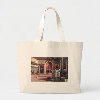 St. Augustine in His Study - Vittore Carpaccio Large Tote Bag