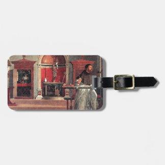 St. Augustine in His Study - Vittore Carpaccio Luggage Tag