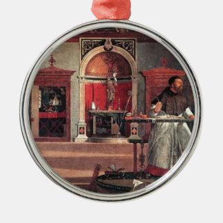 St. Augustine in His Study - Vittore Carpaccio Metal Ornament
