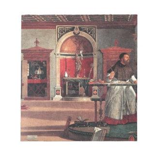 St. Augustine in His Study - Vittore Carpaccio Notepad