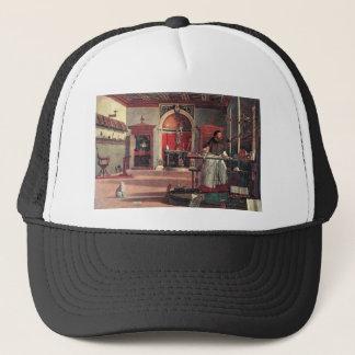 St. Augustine in His Study - Vittore Carpaccio Trucker Hat