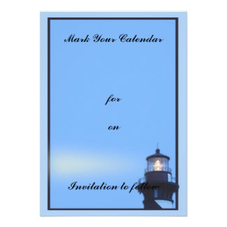 St Augustine Lighthouse Personalized Invites