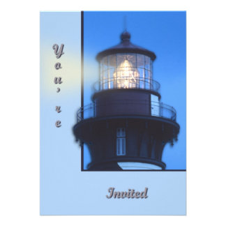 St Augustine Lighthouse Personalized Invitation
