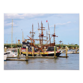 St Augustine Pirate Ship Photo Print