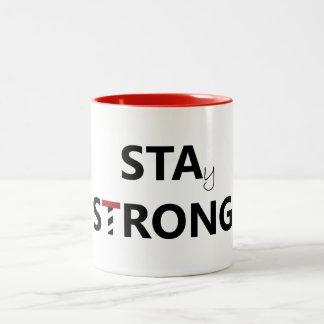 St. Augustine - Stay Strong Two-Tone Coffee Mug